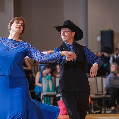 Chris and Karen Hennes in a dance competition